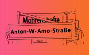 Straßenschild Anton-W-Amo-Straße