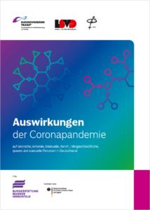 Cover Broschüre Auswirkungen der Coronapandemie auf LSBTIQA+ Komplett