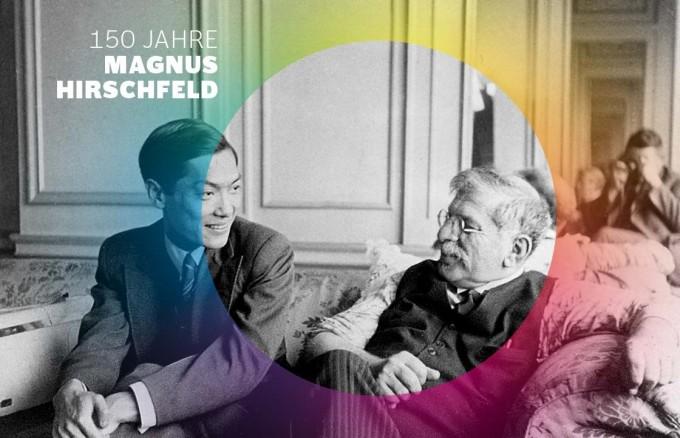 Magnus Hirschfeld 1929 mit einem Besucher aus China